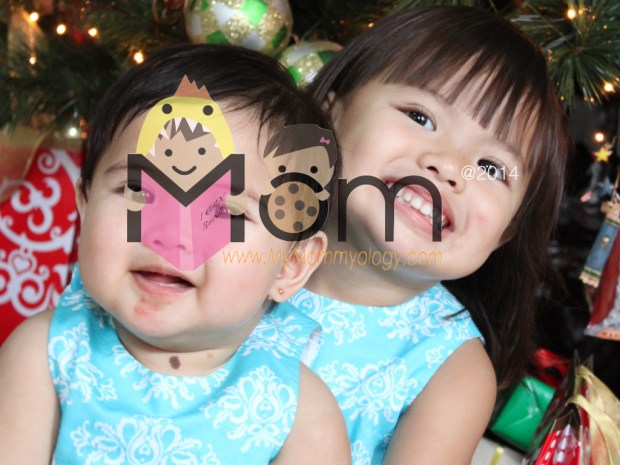 "Their first Christmas as ""sisters""! :)"