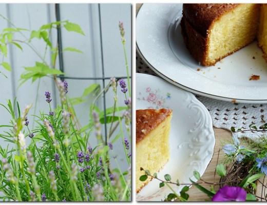 Lavendel und leckere irische Lemon Tart