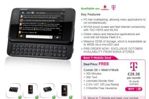 Nokia N900 for £204 (effectively) unlocked, unbranded! Free on £29.36/month contract! Pay as you go £392