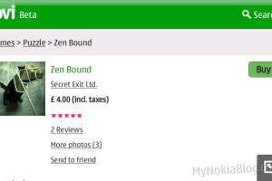 Video: Zen Bound on the Nokia N900 #Maemo 5 available at the Ovi Store