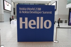 New handsets on the show floor under wraps #NokiaWorld
