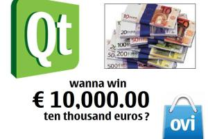 Qt Contest: Port a desktop App to MeeGo/Symbian handheld for Ovi Store and win EUR 10,000!