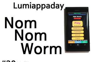Lumiappaday #39: Nom Nom Worm demoed on the Nokia Lumia 800