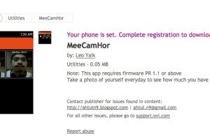 N9Apps: MeeCamHor (capture pictures with FFC )
