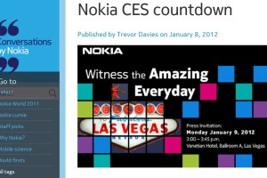 Nokia Conversations Counting Down to CES. Nokia will be there 'in full force'.