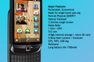 My Dream Nokia #40: Nokia Touch and Type True with Symbian Belle, Portrait QWERTY slider concept.
