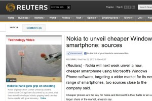 Lumia 610 and Global Lumia 900 coming to MWC says Reuters.