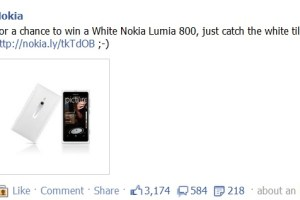 White Lumia 800 Up for Grabs at Nokia's Facebook page