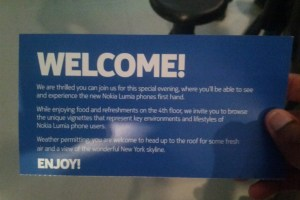 Lumia 920 and 820 Launch Party: New York