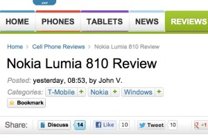 Nokia Lumia 810, 820 and 920 reviews from PhoneArena
