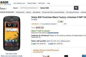 Nokia 808 PureView drops under $500 at Amazon (US)