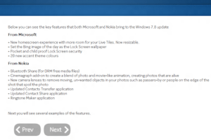 WP7.8 feature list mentioned in Nokia Customer Care feedback survey