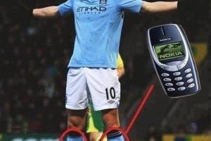 Weekend LOL: Dzeko's Shin Guards #Nokia