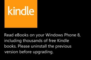 Amazon Kindle app for WP(8) gets updated, gets new orange tile.