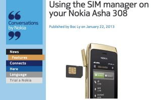 NokConv: Using the SIM manager in your Dual SIM Nokia Asha 308