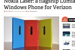 Nokia Laser, Flagship Lumia WP8 coming to Verizon?