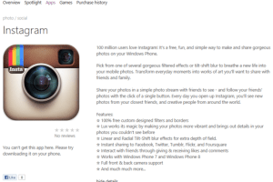 Instagram for WP coming in May says quite possibly fake source