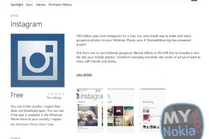 Windows Phone Store Link to Instagram?