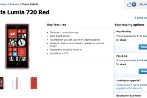 Red Nokia Lumia 720 and Nokia Lumia 520 available on O2-UK