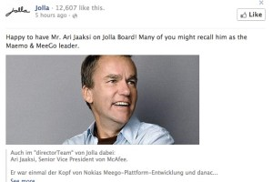 Ari Jaaksi joins the Jolla Board