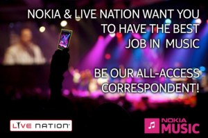 ".@NokiaCanada and @LiveNation Partner For ""Dream Job"" #NokiaMusic"