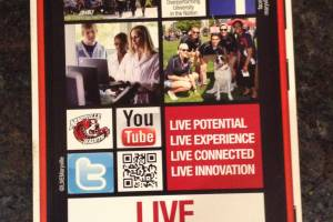 Maryville University sends out Nokia Lumia shaped flyers
