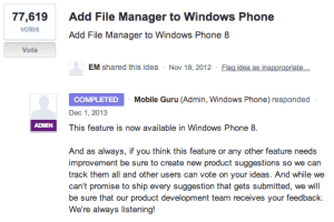 File Manager coming to Windows Phone