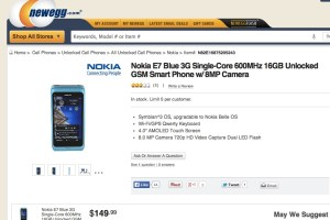 Nokia E7 for $149.99 on Newegg