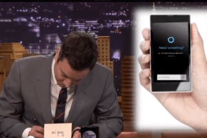 Jimmy Fallon Thanks Microsoft for Releasing Cortona Voice Assistant