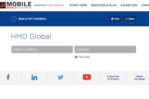 HMD at MWC: HMD Global Oy at Mobile World Congress 2017 exhibitors for #Nokia #Android
