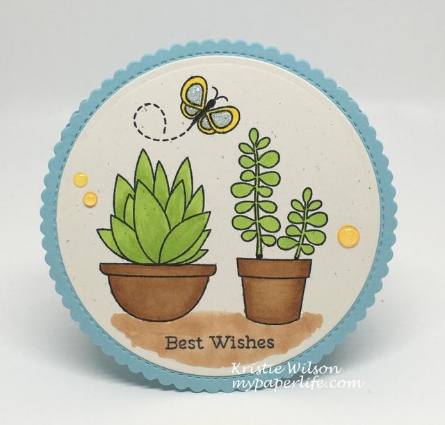 2016 Card 48 - MFT Sweet Succulents Fly By Friends