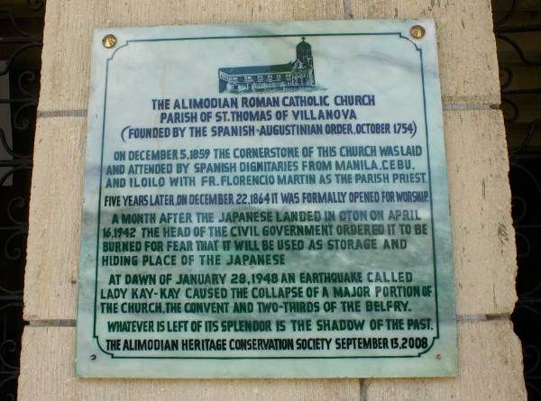 Alimodian Church History