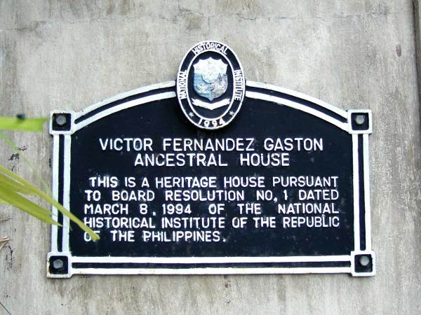 Plaque: Balay Negrenese Museum (Gaston Ancestral Home), Silay