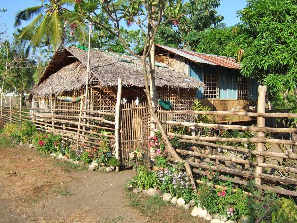 You'll park near this pretty bahay kubo to take the pump boat to Nogas Island