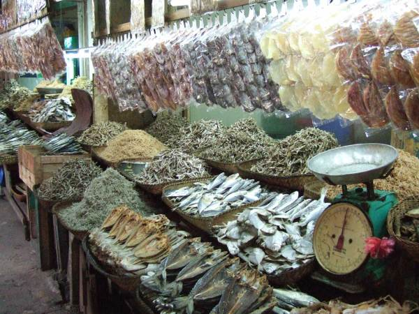 Dried fish section Iloilo City Central Market