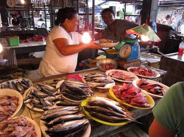 Fresh fish at Miagao Public Market