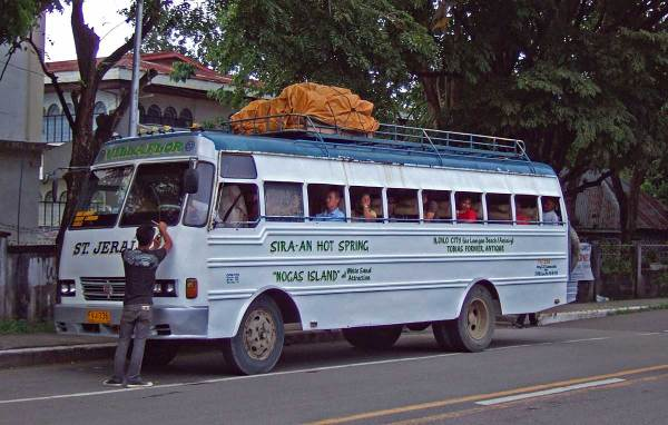 Bus from Iloilo City to Sira-an Hot Springs and Anini-y (Nogas Island)