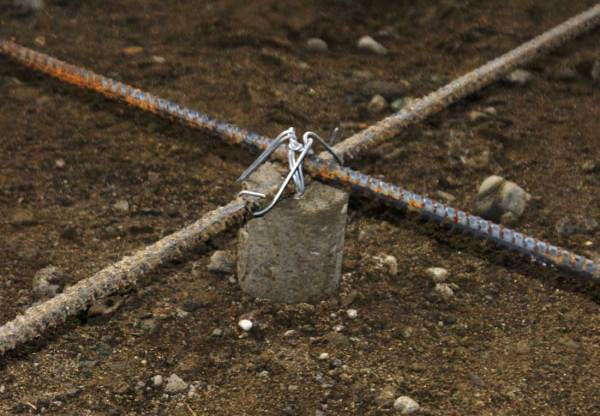 We adopt Yannic's rebar supports