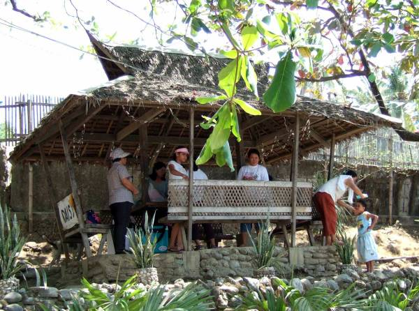 Our picnic shelter at Sira-an Resort. Cost for admission (9 of us) and shelter about P350