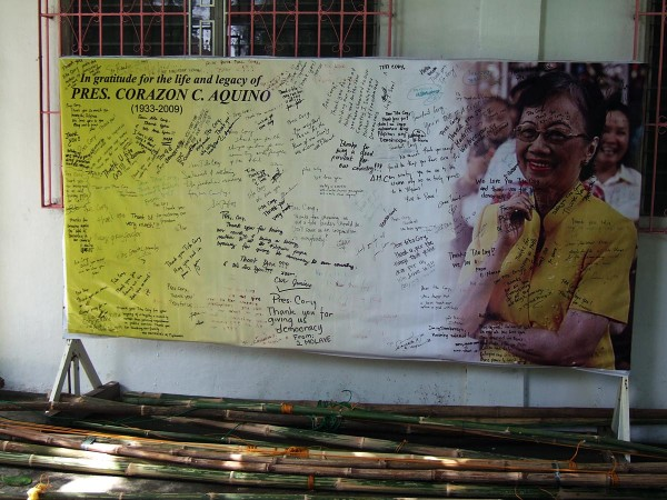 Memorial to Cory Aquino