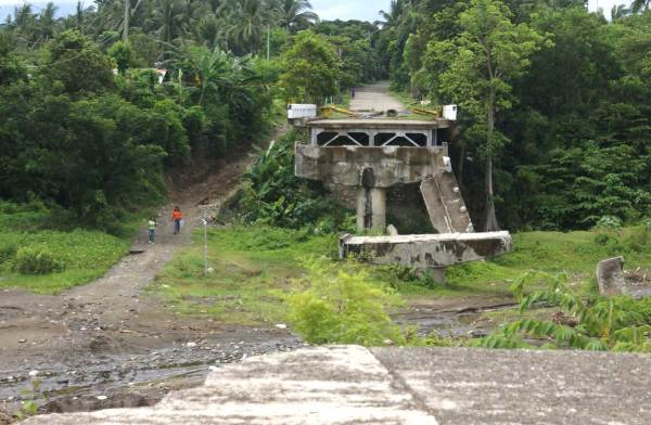 End of the road from Guimbal, Iloilo to Tubungan, Iloilo