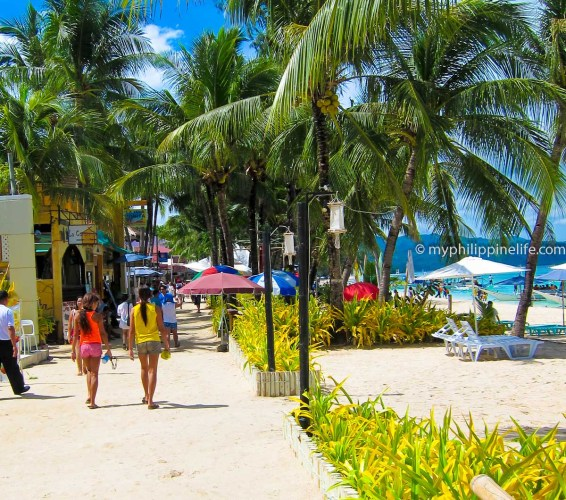 "This is Boracay's ""Main Street"" - the White Beach foot path"