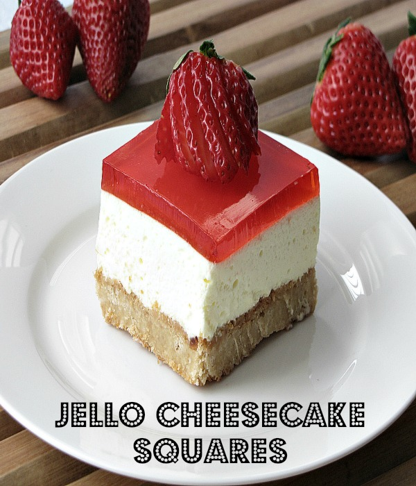 Jello Cheesecake Squares from My Pinterventures