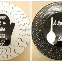 DIY Painted Kitchen Plates - Add Whimsy to the Kitchen