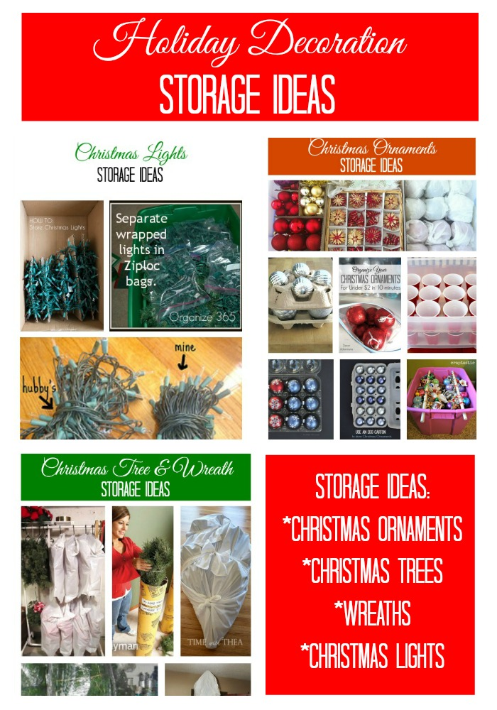 And More Visit My Round Up Of Holiday Decoration Storage Ideas