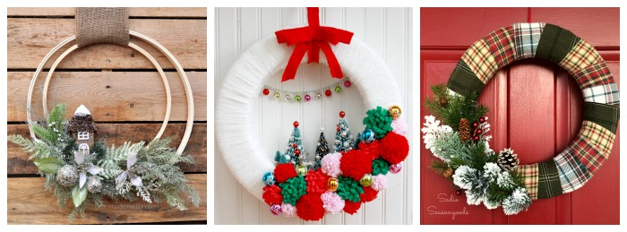 12 days of christmas 12 unique holiday wreaths - Awesome christmas wreath with homemade style ...