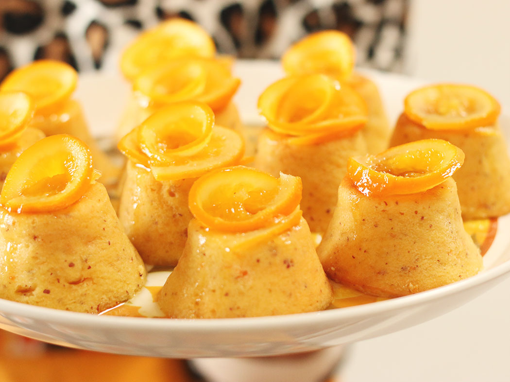 Whole Orange & Almond Mini Cakes with Orange Syrup