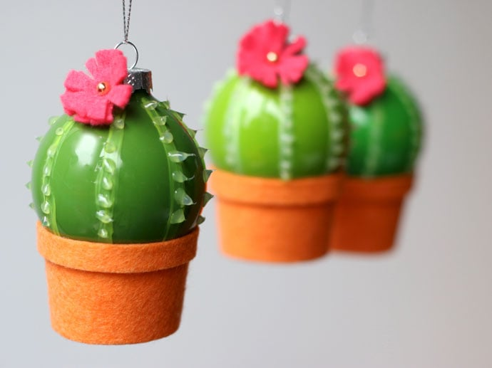 DIY: Cactus Christmas Bauble Ornaments