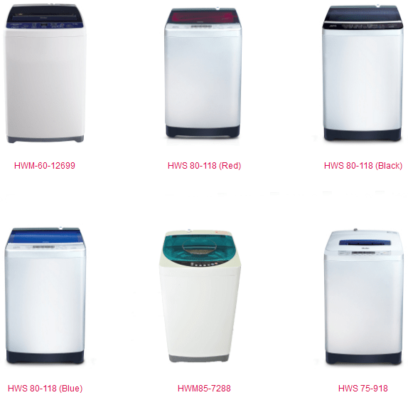 Haier Washing Machine Price in Pakistan Capacity Size Color Model and Styles