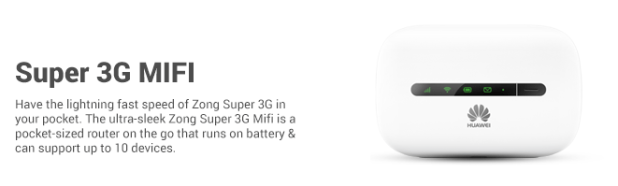 Zong Super 3G MIFI / Router Device Price in Pakistan Packages Charges